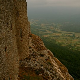 The Castle of Peyrepertuse—Duilhac, France