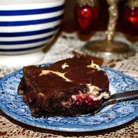 Raspberry Cheesecake Chocolate Brownies