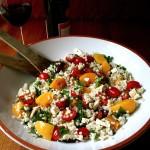 Greek  Barley and Peach Salad