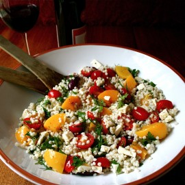 Greek  Barley and Peach Salad