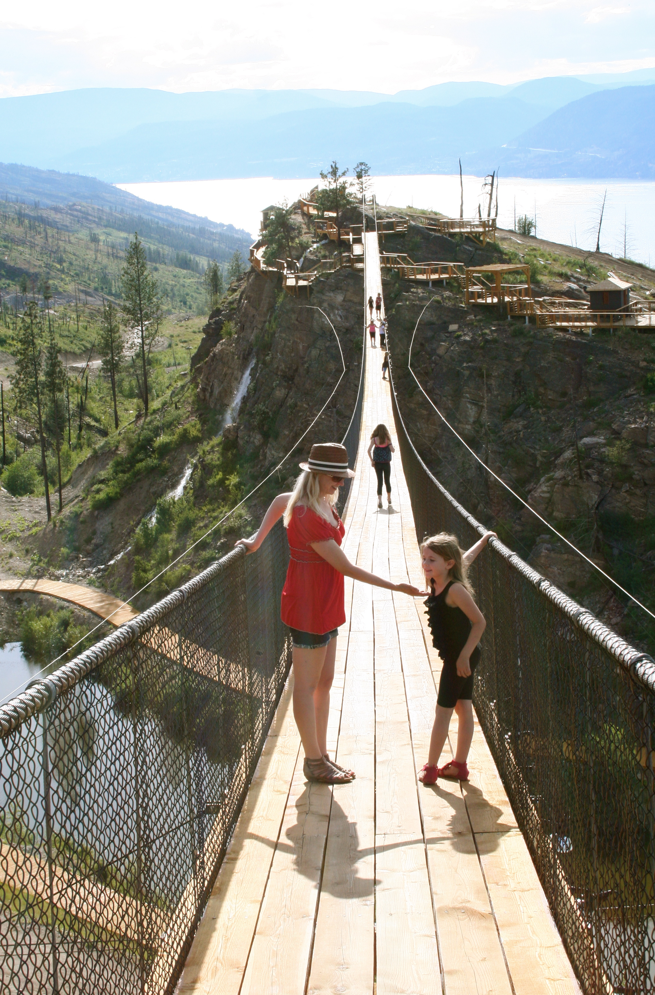Kelowna Mountain Suspension Bridges
