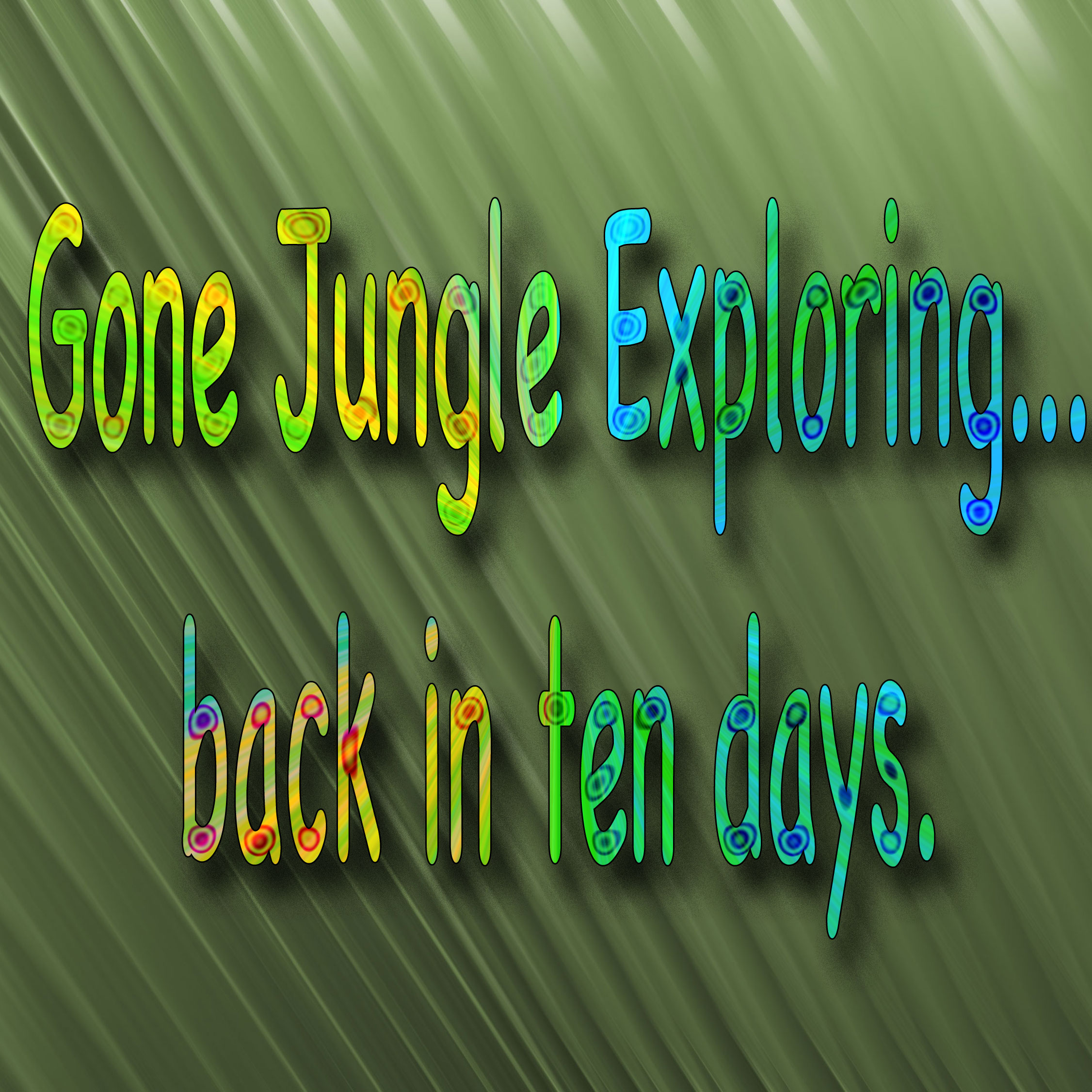 Gone Jungle Exploring…