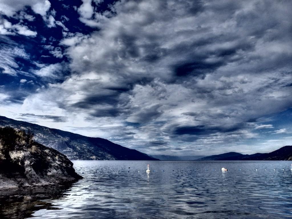 Okanagan Lake, Thanksgiving, 2014. Photo by Tabs