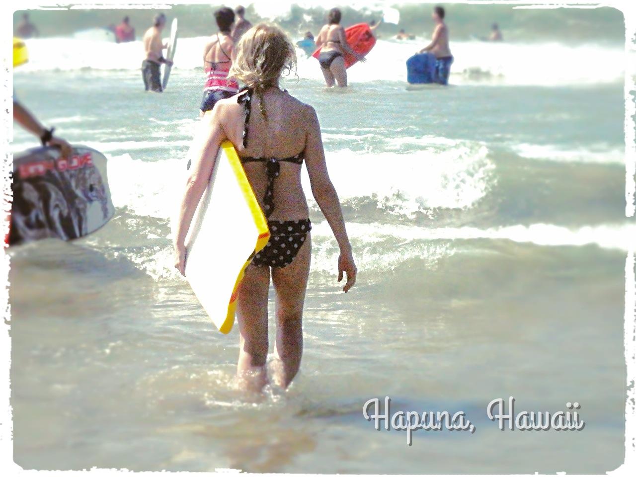 Hapuna Boogie Boarding!