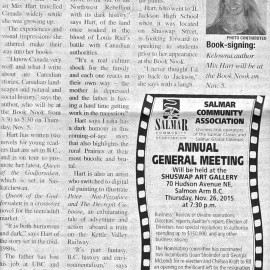 "An Interview With The Salmon Arm Observer About ""Queen Of The Godforsaken"""